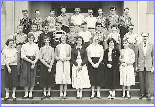 Yarrow School - Grade Eight Class (1955-56)