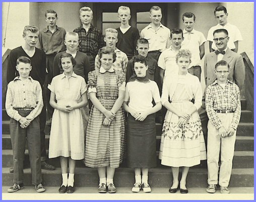 Yarrow School - Grade Eight Class (1956-57)