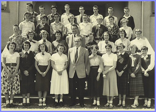 Yarrow School - Grade Nine Class (1954-55)