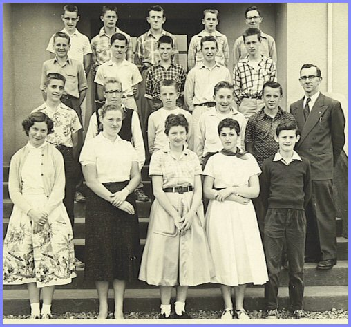 Yarrow School - Grade Nine Class (1956-57)